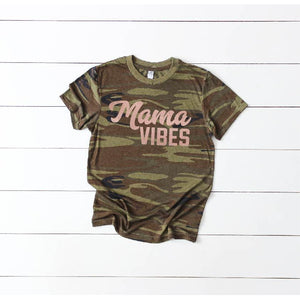Unisex Camo - Mama Vibes {Rose Gold}-Little Hooligans Co.