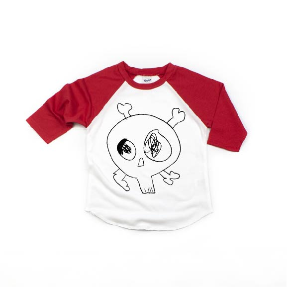 Eastons Skull - Kids Raglan - Little Hooligans Co.