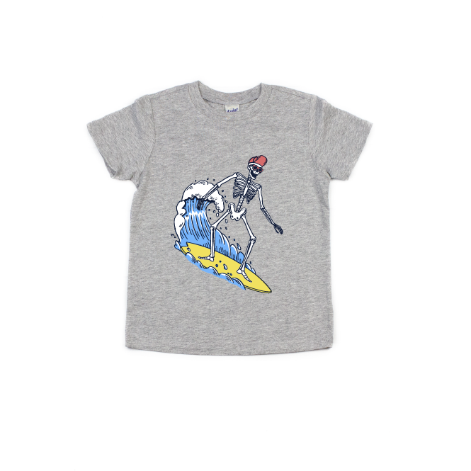 Surfer Skelly (Full Color) - Kids Tee-Little Hooligans Co.