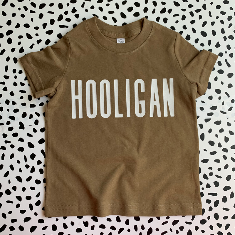 Hooligan (Coyote) - Kids Tee-Little Hooligans Co.