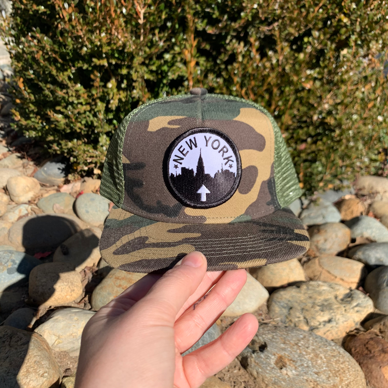 NYC - Camo Toddler snapback-Little Hooligans Co.