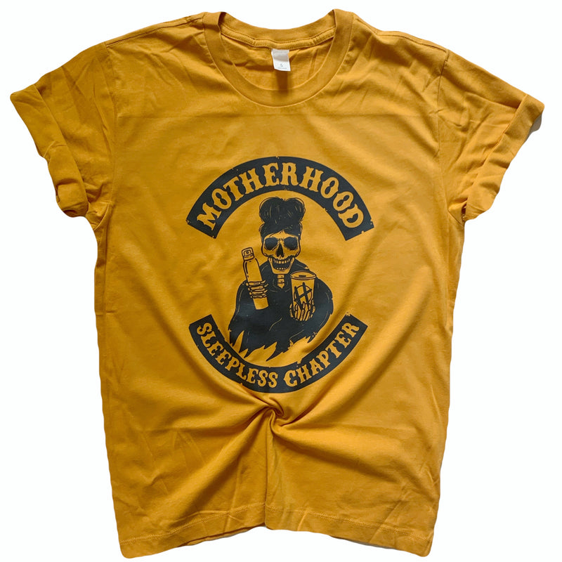 Sleepless Chapter - Unisex Mustard Tee-Little Hooligans Co.
