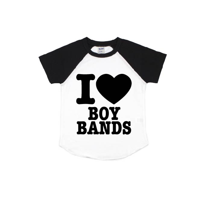 I Heart Boy Bands - Short Sleeve Raglan-Little Hooligans Co.