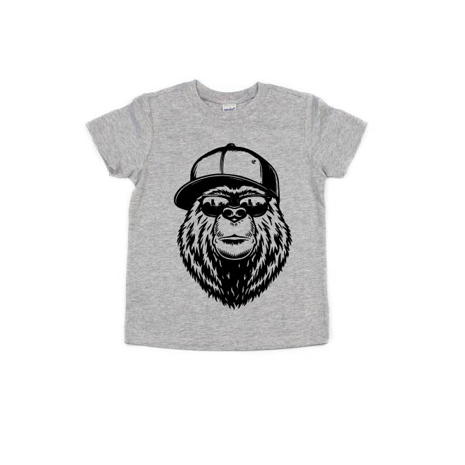 NYC Bear - Light Grey-Little Hooligans Co.