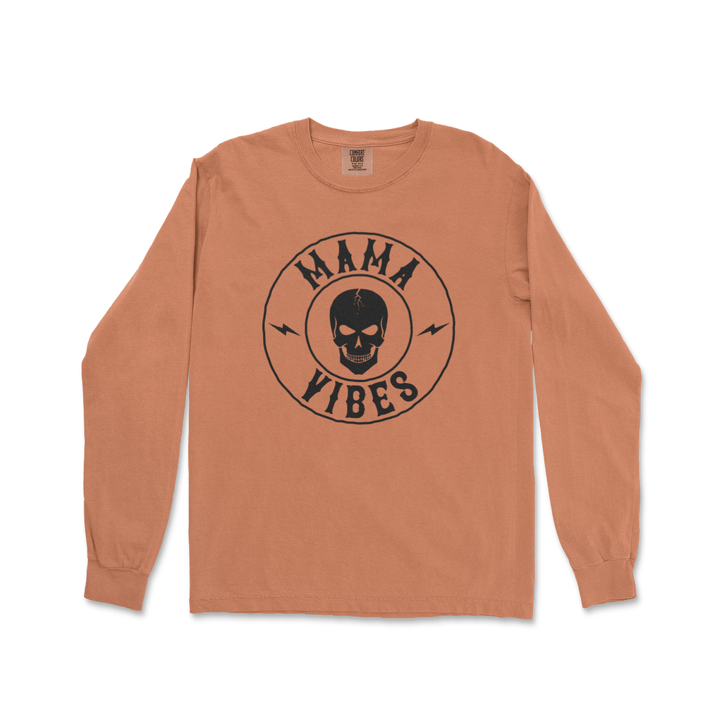 Mama Vibes - Unisex Long Sleeve Yam ComfortColors-Little Hooligans Co.