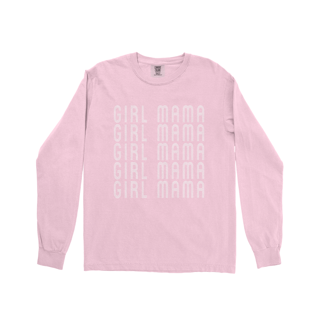 Girl Mama - Unisex Long Sleeve Blossom ComfortColors-Little Hooligans Co.