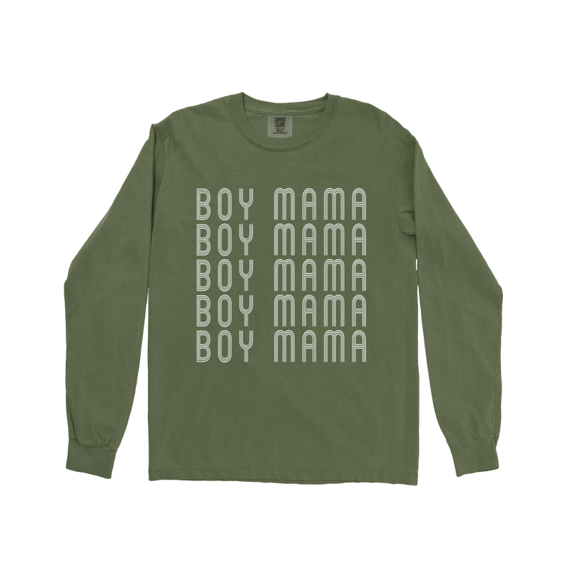 Boy Mama - Unisex Long Sleeve Hemp ComfortColors-Little Hooligans Co.