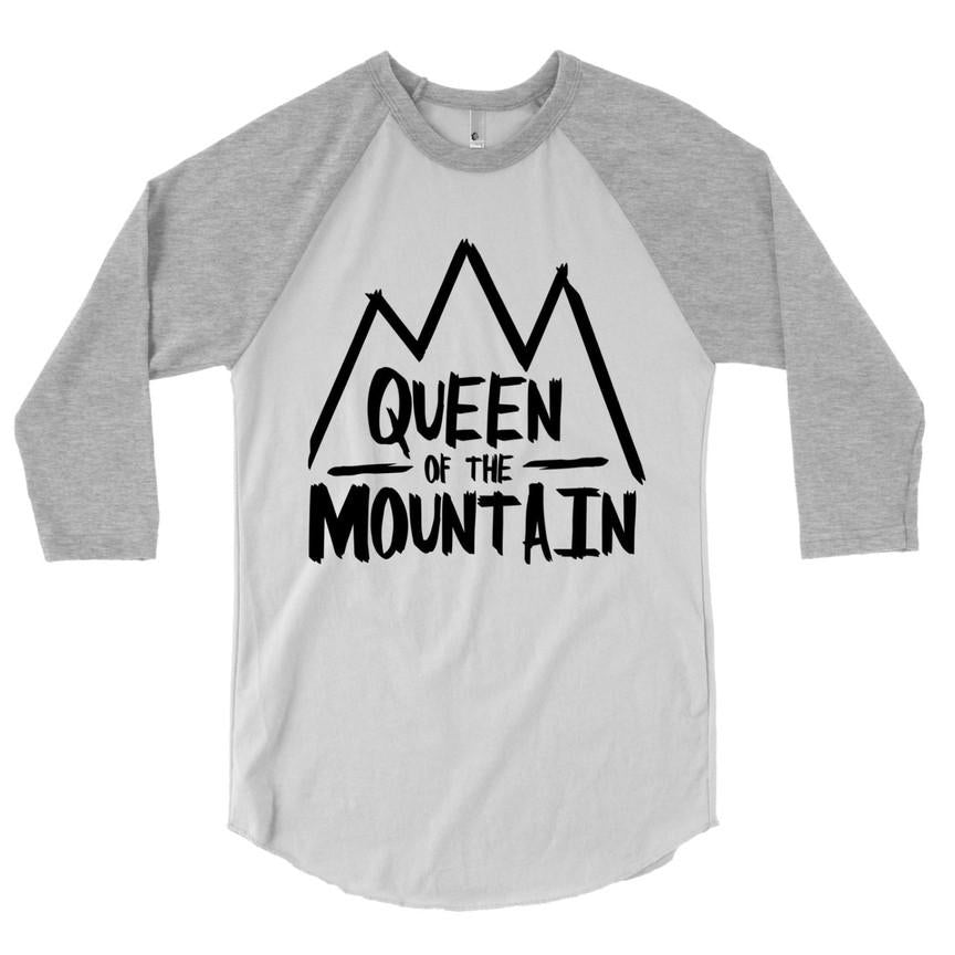 Queen of the Mountain - Adult Raglan-Little Hooligans Co.