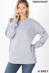 Fleece Pullover - Heather Grey-Little Hooligans Co.