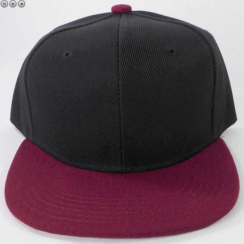 Black + Maroon - Toddler Snapback