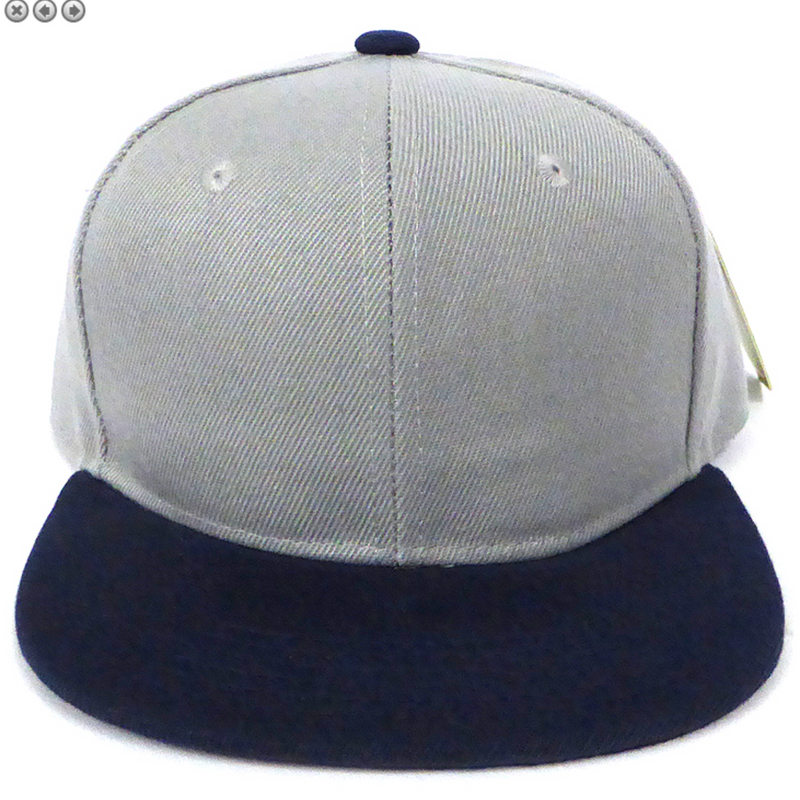 Grey + Navy - Toddler Snapback-Little Hooligans Co.