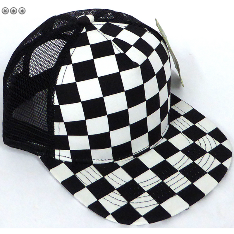 Checkered - Youth/Adult Meshback Snapback-Little Hooligans Co.