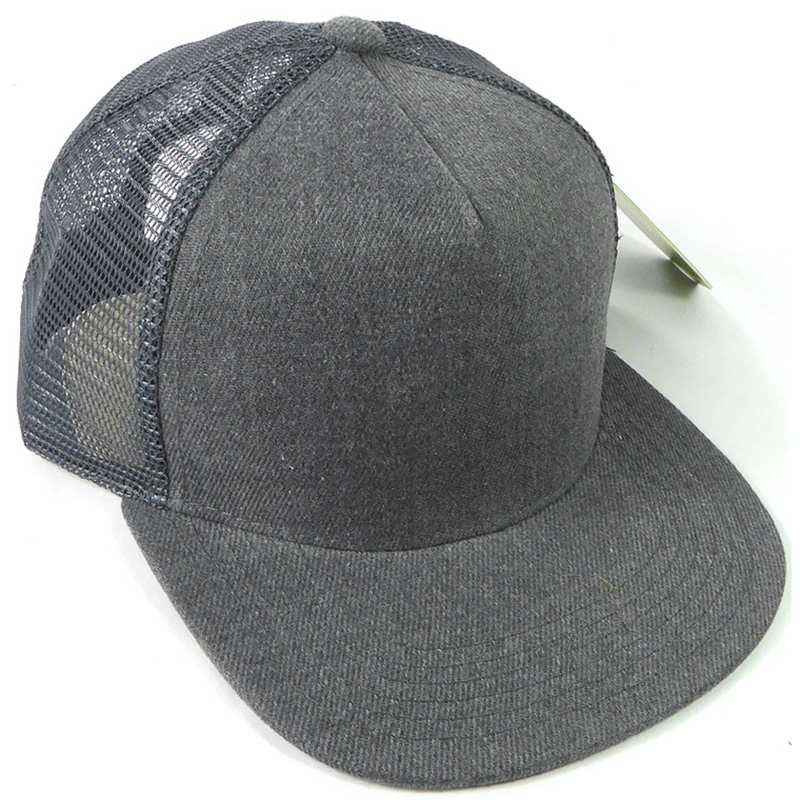 Heather Charcoal - Toddler Meshback Snapback-Little Hooligans Co.