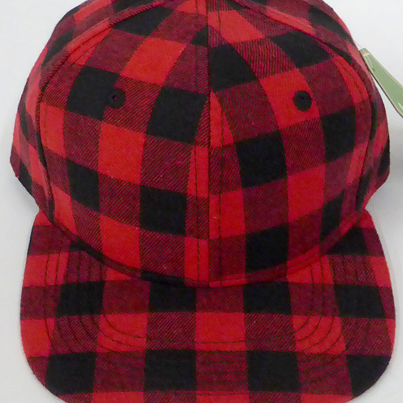 Red Plaid - Toddler Snapback-Little Hooligans Co.
