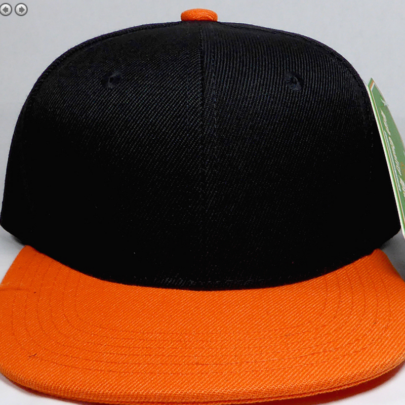 Black + Orange - Toddler Snapback-Little Hooligans Co.