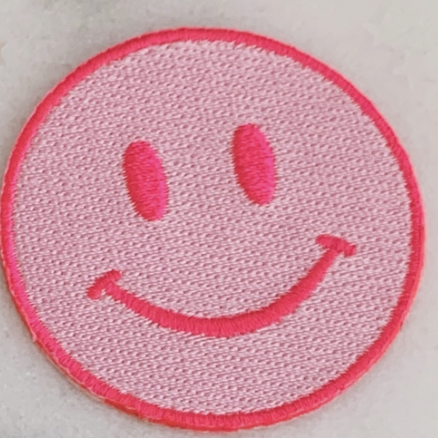 Pink/Pink Smile - Iron-On Patch-Little Hooligans Co.