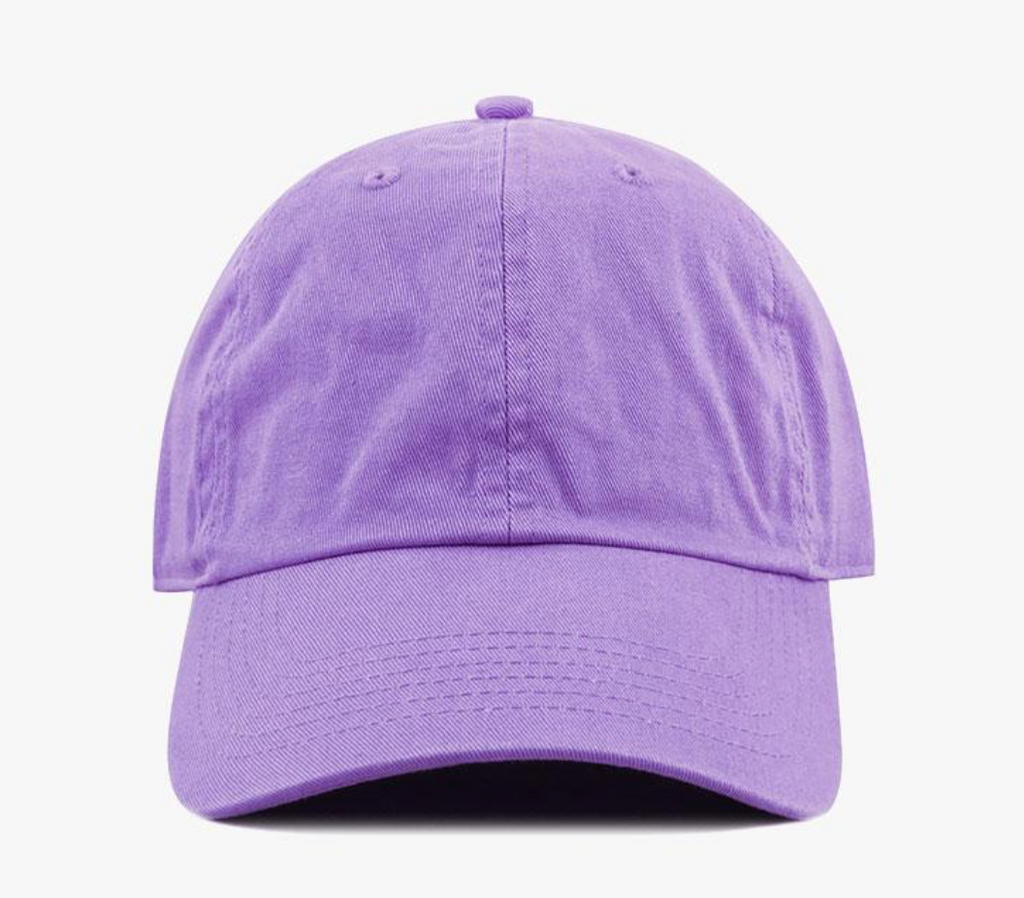 Lilac Cotton Washed Baseball Cap-Little Hooligans Co.