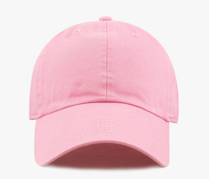 Pink Cotton Washed Baseball Cap-Little Hooligans Co.