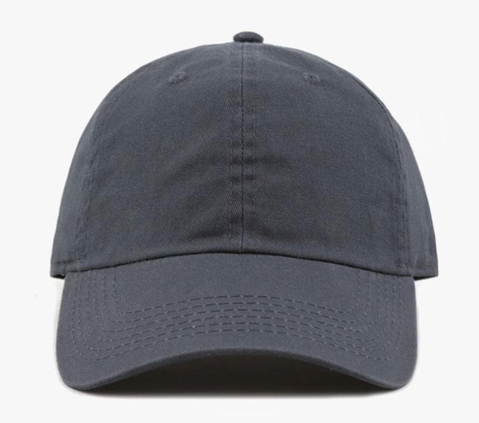 Charcoal Cotton Washed Baseball Cap-Little Hooligans Co.