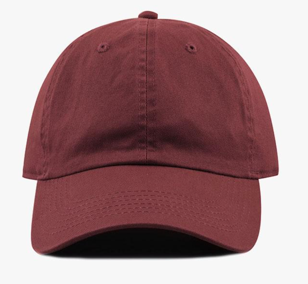Maroon Cotton Washed Baseball Cap-Little Hooligans Co.