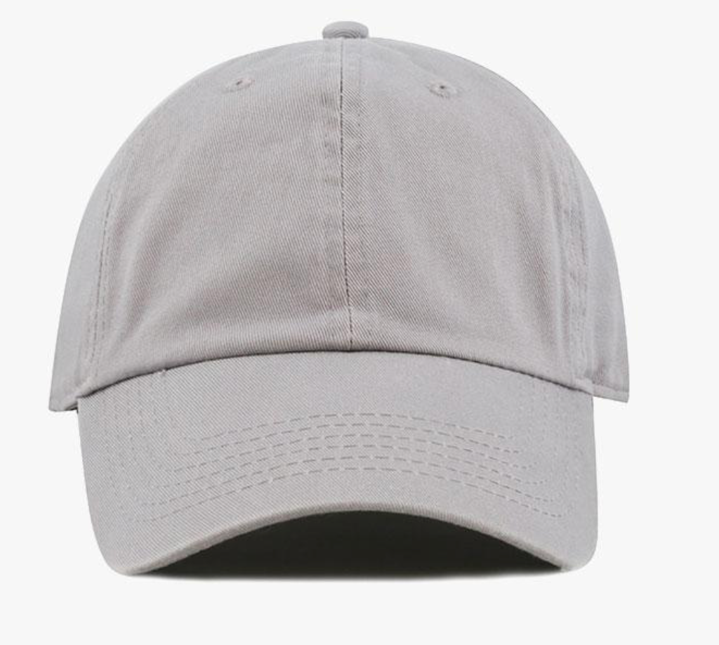 Grey Cotton Washed Baseball Cap-Little Hooligans Co.