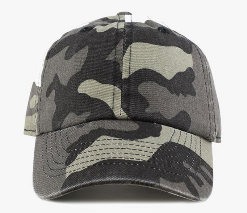 Camo Cotton Washed Baseball Cap-Little Hooligans Co.