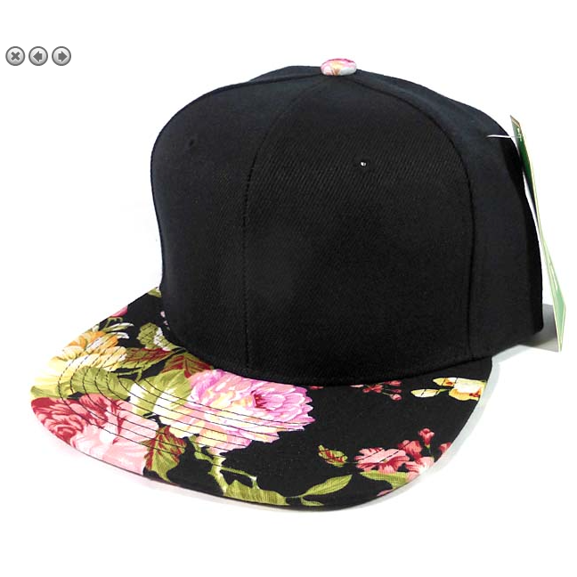 Black Rose Floral Snapback-Little Hooligans Co.