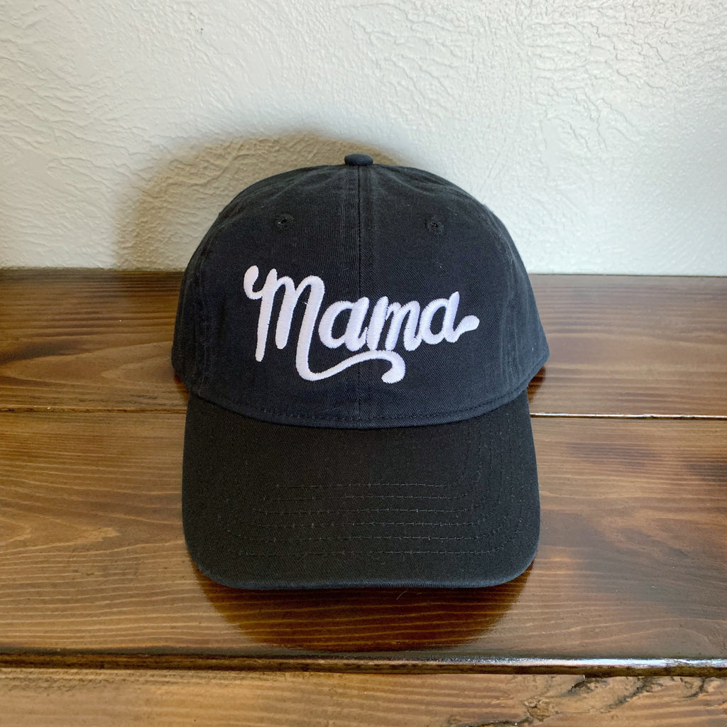 Mama - Vintage Black Embroidered Hat-Little Hooligans Co.