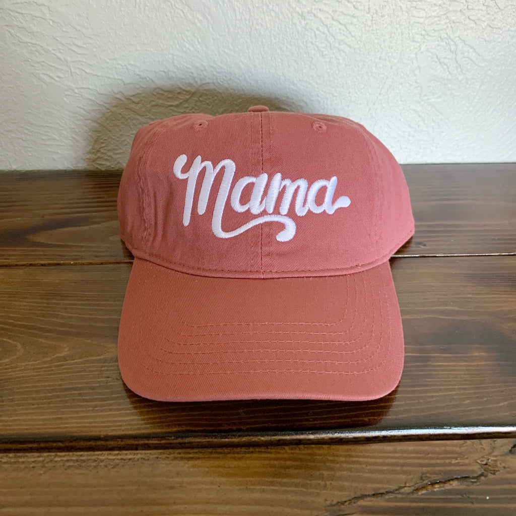 Mama - Brick Embroidered Hat-Little Hooligans Co.