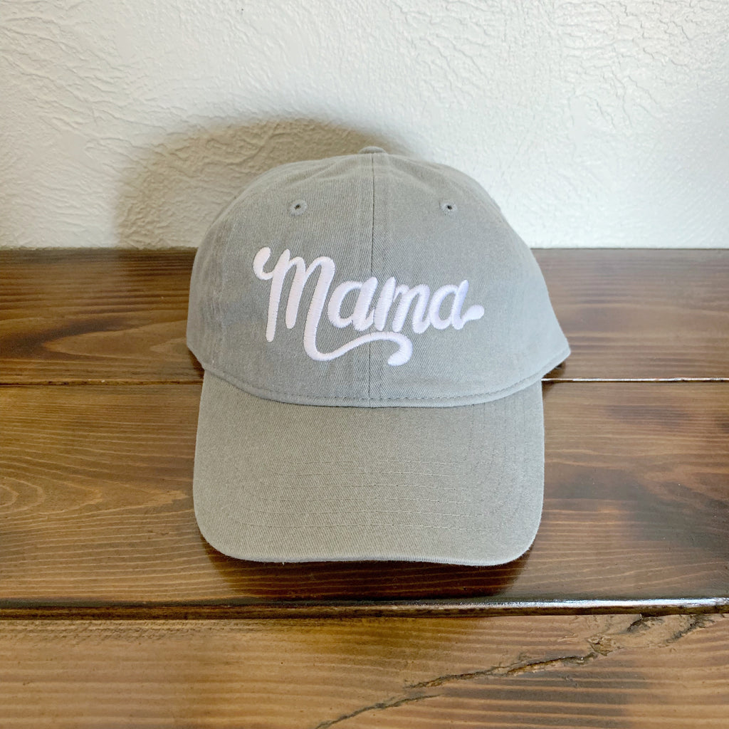 Mama - Grey Embroidered Hat-Little Hooligans Co.