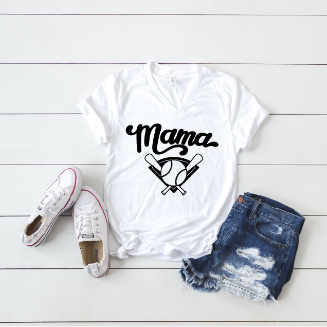Baseball Mama - Unisex V-Neck - Little Hooligans Co.