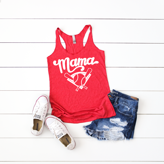 Baseball Mama - Womens Racerback Tank - Little Hooligans Co.