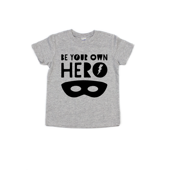 Be Your Own Hero - Kids Tee-Little Hooligans Co.