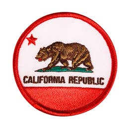 California Republic - Iron-On Patch-Little Hooligans Co.