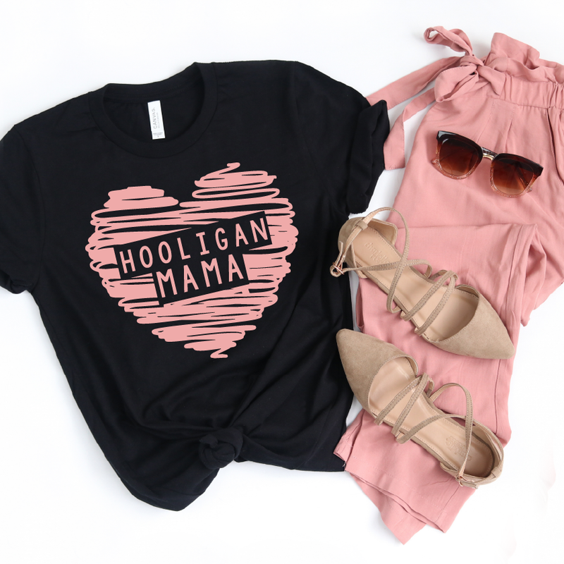 Hooligan Mama - Unisex Black Tee - Little Hooligans Co.