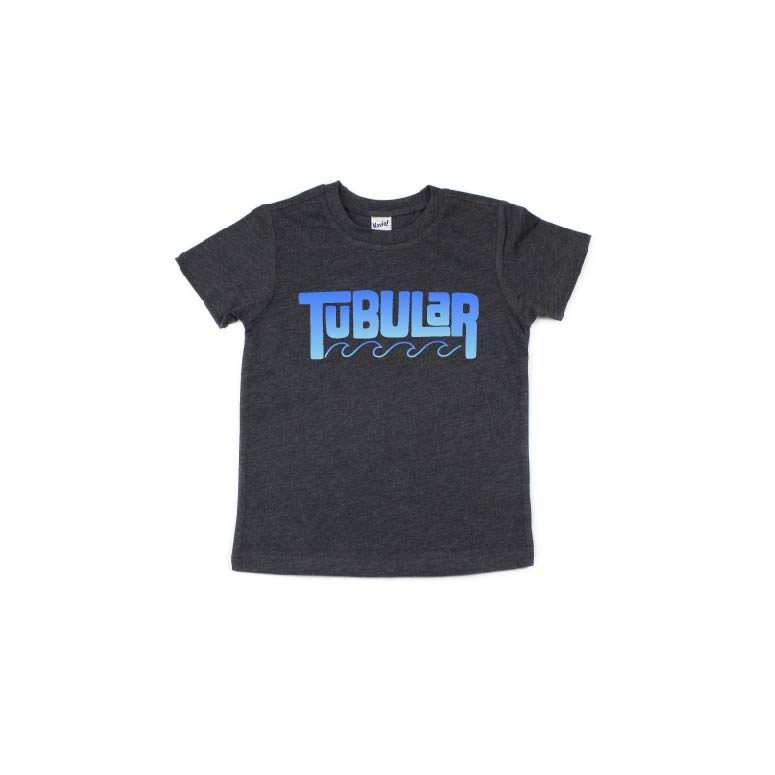Tubular - Blue Ombre Charcoal Tee-Little Hooligans Co.