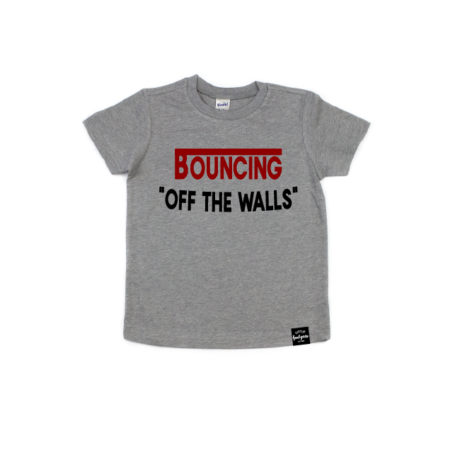 Bouncing Off The Walls - Kids Tee-Little Hooligans Co.