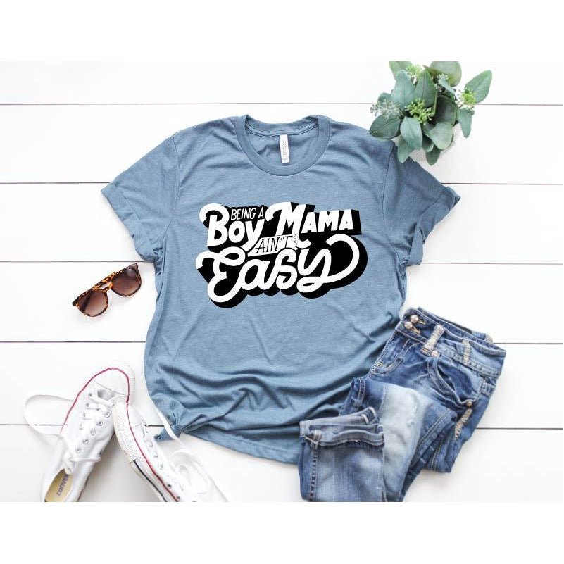 Boy Mama - Unisex Stone Blue-Little Hooligans Co.