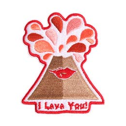I Lava You - Iron-On Patch-Little Hooligans Co.