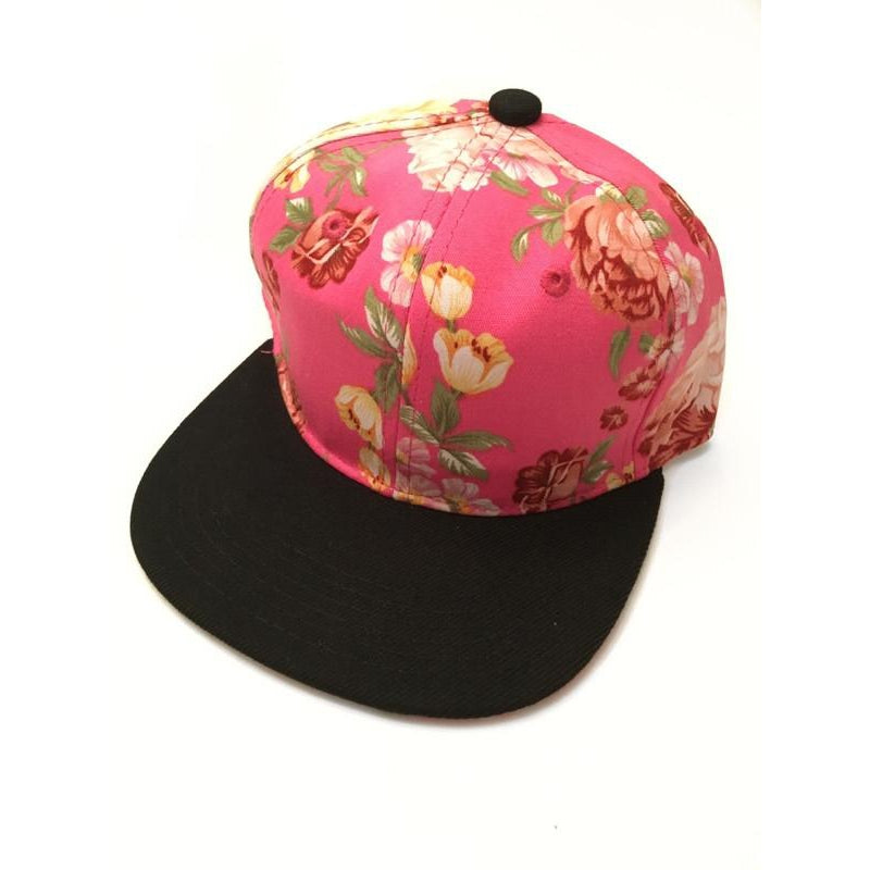 Pink Floral Snapback-Little Hooligans Co.