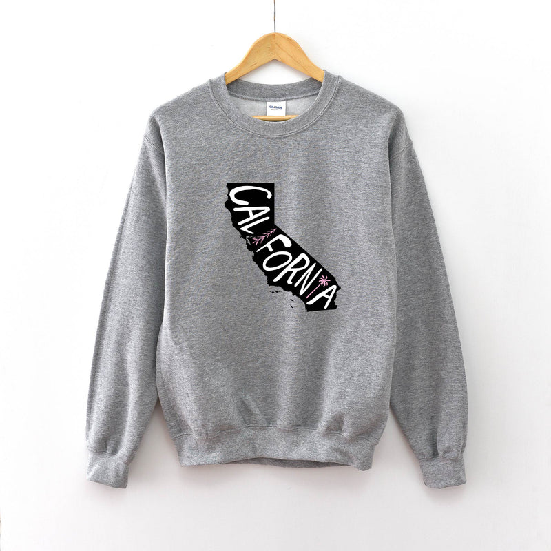 California - Unisex Grey Pullover-Little Hooligans Co.