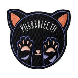 Purrfect - Iron-On Patch-Little Hooligans Co.