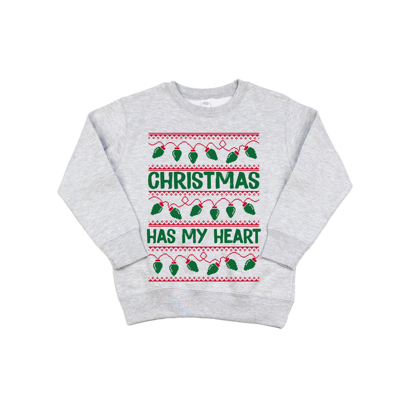 Christmas Has My Heart - Kids Pullover-Little Hooligans Co.
