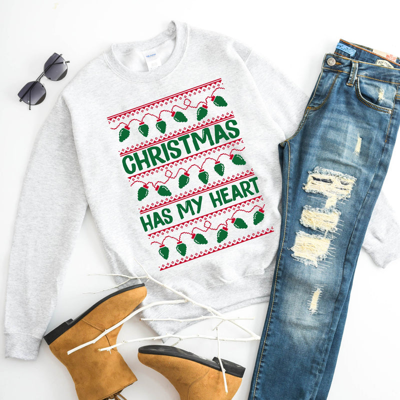 Christmas Has My Heart - Adult Pullover-Little Hooligans Co.