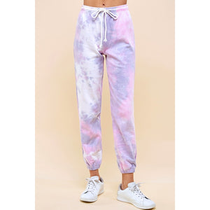"""Mama"" Cotton Tie Dye Heavy Weight Sweat Pant - Womens Fit-Little Hooligans Co."