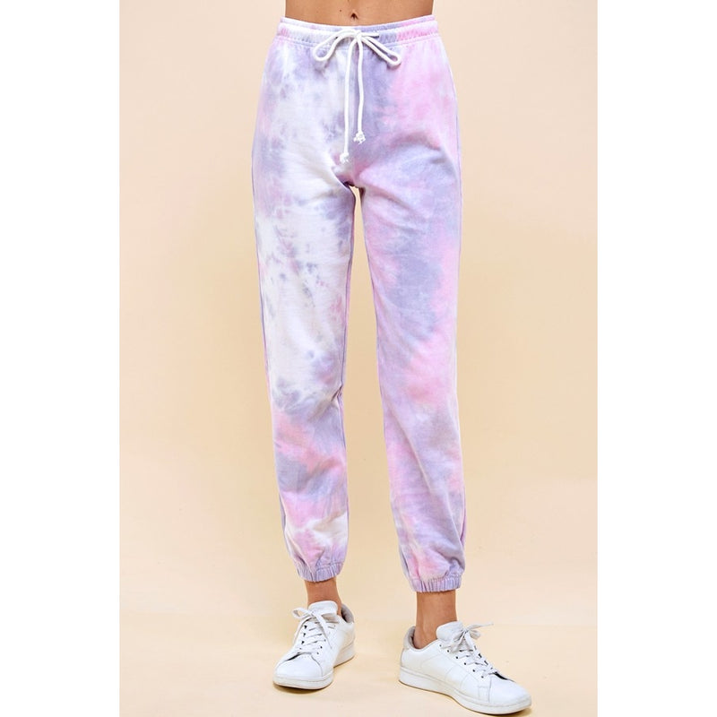 Cotton Tie Dye Heavy Weight Sweat Pant - Womens Fit-Little Hooligans Co.