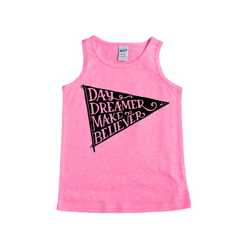 Day Dreamer - Pink Tank-Little Hooligans Co.