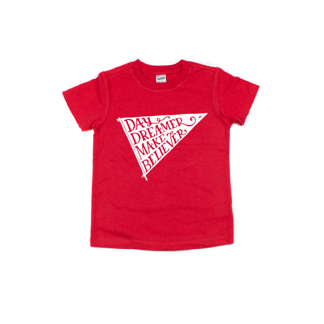 Day Dreamer - Red Tee-Little Hooligans Co.