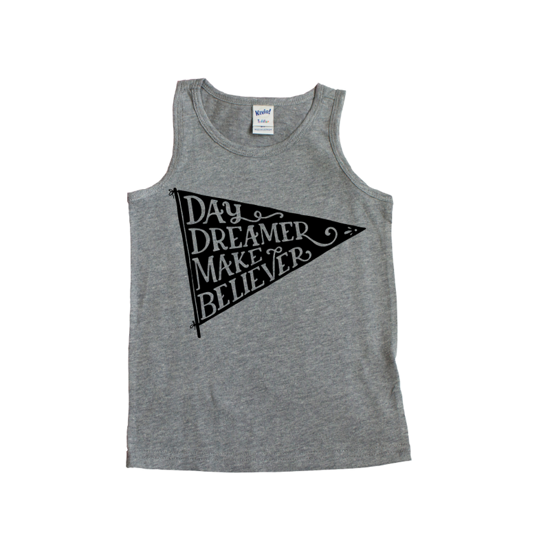 Day Dreamer - Grey Tank-Little Hooligans Co.