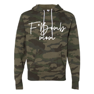 F* Bomb Mom - Unisex Camo Hoodie-Little Hooligans Co.